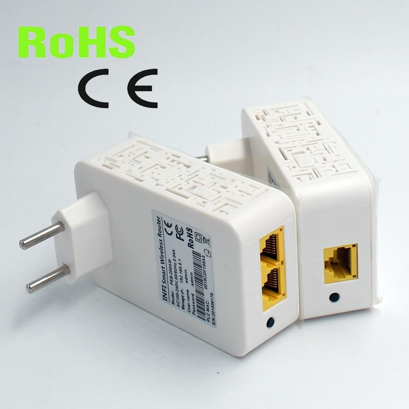все цены на  2pcs per pair Wireless WIFI homeplug Mini PLC 200M wireless powerline adapter  онлайн