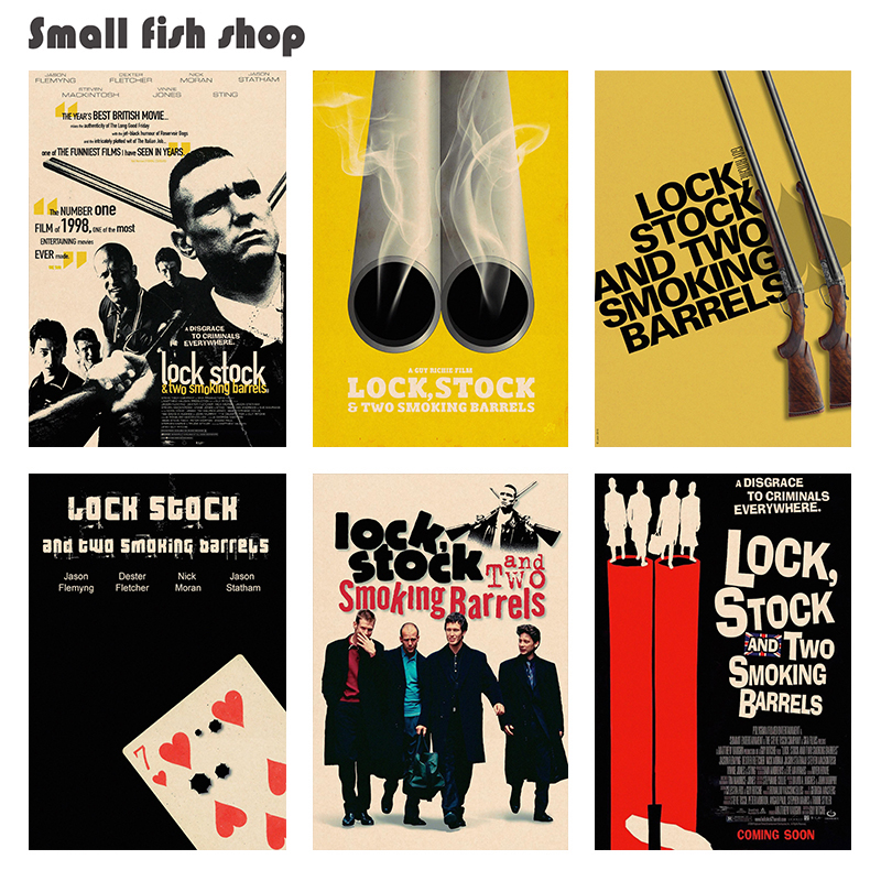 Lock, Stock and Two Smoking Barrels Home Furnishing decoration Kraft Movie Poster Drawing core Wall stickers