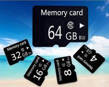 Carte mémoire noire + adaptateur carte micro tf 128 mo, 2 go, 4 go, 8 go, 16 go, 32 go, 64 go, 128 go, 256 go