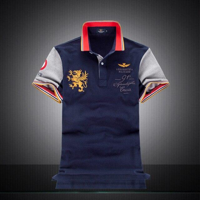 2018 nuevas camisetas Polo para hombre de moda estilo 100% algodón bordado  aeronáutica militara marca 6f40eb87af2ff