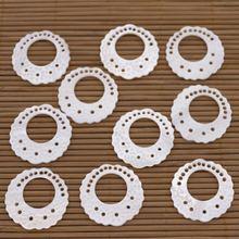10 шт 27 мм раковины натуральные белые жемчужные для изготовления