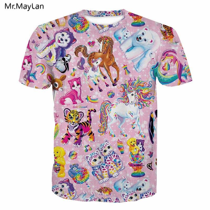 3D Print All Animals Baby Unicorn Tiger Dog Cats Dolphin T shirt Men/Women Streetwear T-shirt Tshirt Tees Boy Tops 2018 Clothes