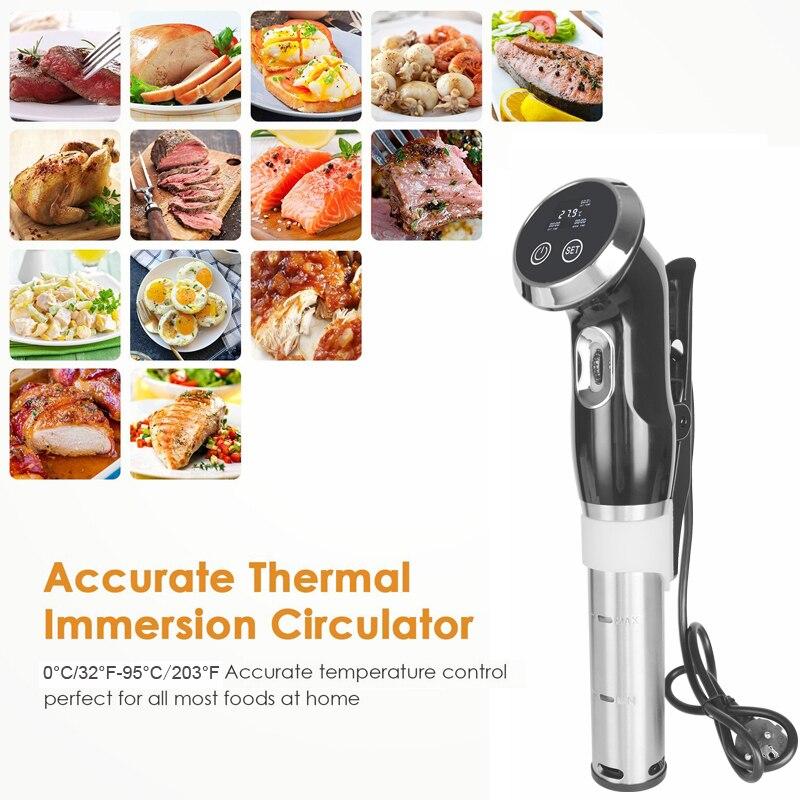 Un, 1500 W Sous Vide Précision Cuisinière Thermoplongeur Vide Alimentaire Cuisinière, LCD affichage numérique machine à cuire acier inoxydable