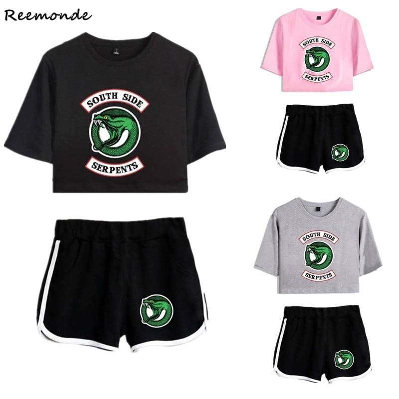 Riverdale Southside Tshirt Riverdale Shirt  Shorts Suits Spor South Side Riverdale Sets Clothing Women Girls Running Shirt