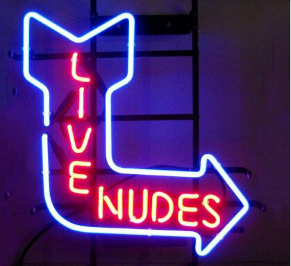 Live Nudes Neon Light Sign Beer Bar