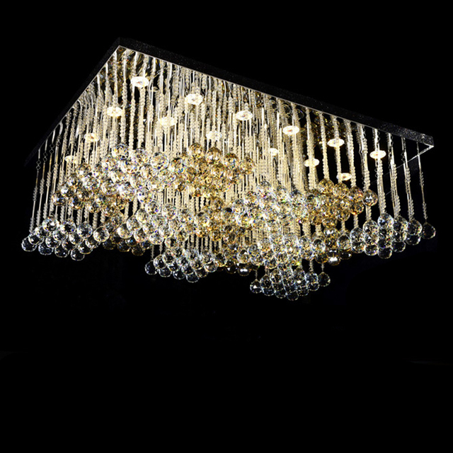 Free shipping wholesales large square crystal chandelier modern