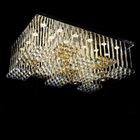 Free Shipping Wholesales Large Square Crystal Chandelier Modern Design Lustre Crystal Staircase Chandelier Lighting