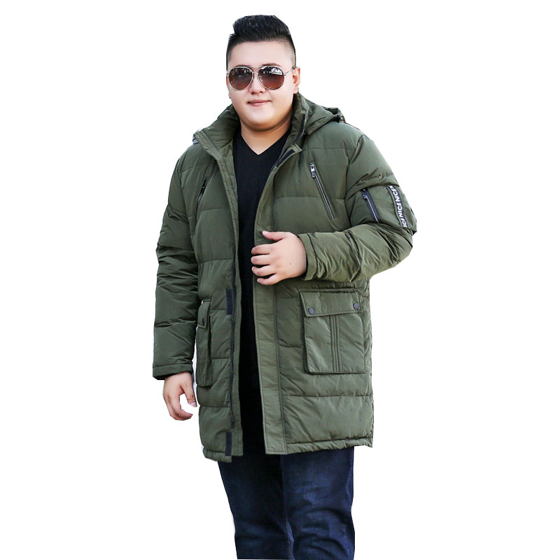 Jackets & Coats 2018 Fashion Trend Mens Large Size Xl-10xl Loose Long Hooded Cotton Winter Knee Warm Jacket Suitable For 175kg Mens Clothing Special Buy