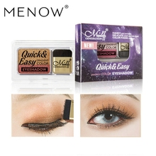 Menow mellow E419 double color eye shadow gradually lazy people pearl light powder waterproofinglasting2018 explosion