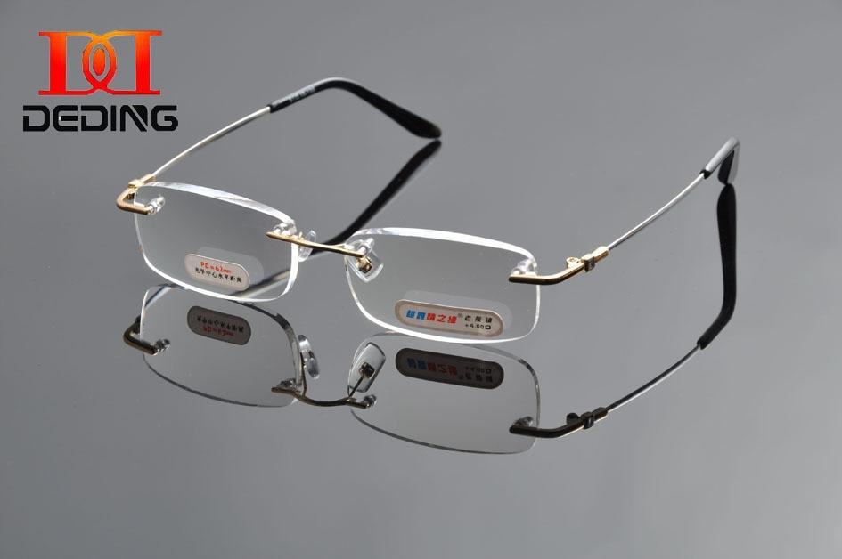 2016 deding memoy metal rimless Gafas para leer presbicia ojos Gafas  flexible ojo Gafas + 1 1.5 2 2.5 + 3 3.5 4 dd0979 118d00f888