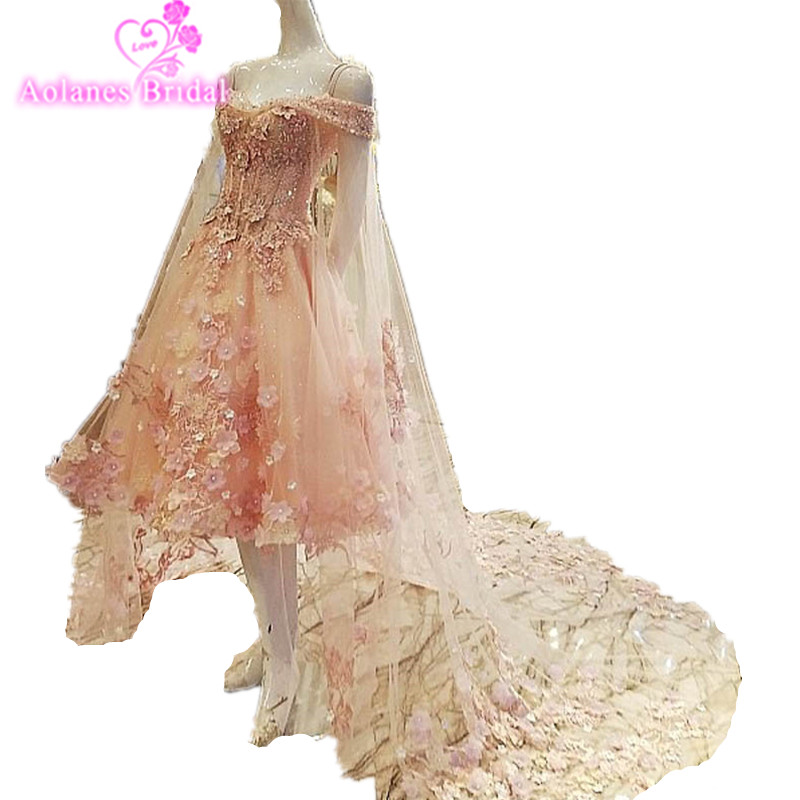 2017 New Design Boat Neck Pink Beach Wed Dress Sleeveless Short Beach Boho Wedding Dresses with Tulle Train Summer Bridal Gown