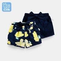 Dinstry ילדה הקיץ ללבוש מכנסיים קצרים מכנסיים דק 0-1-3 שנה ישן תינוק מכנסיים תינוק תחרה עניבת פרפר
