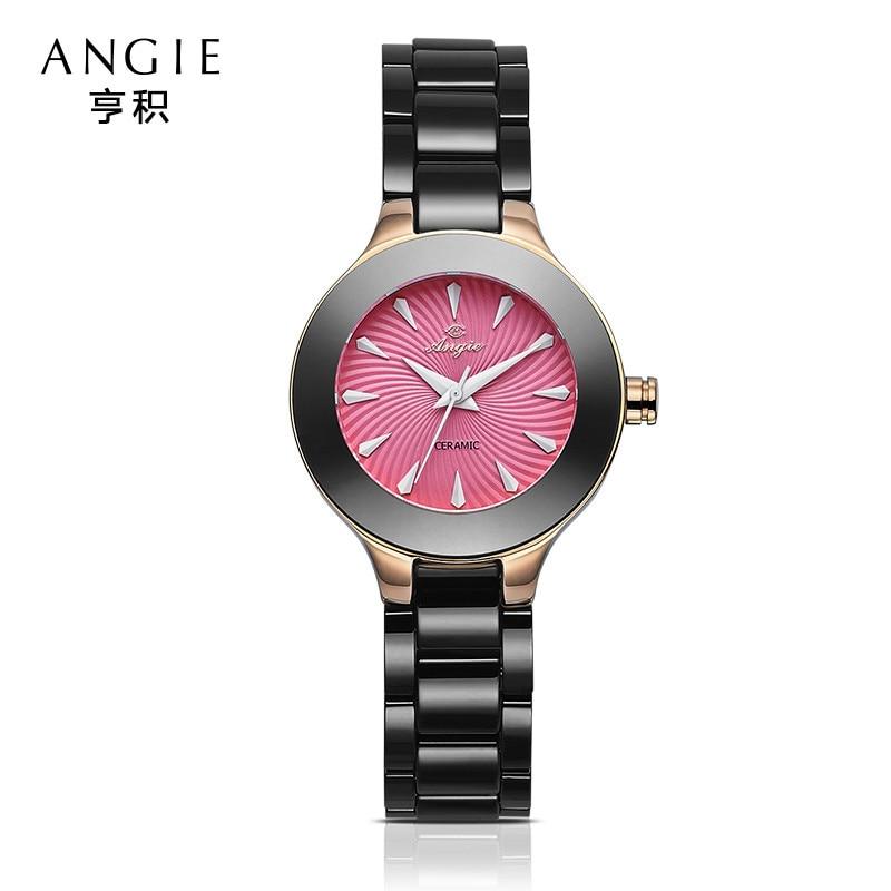 ФОТО Angie Women Ceramic Watches Luxury Watch Fashion&Casual Wristwatch Dress Bracelet Watch Clocks Christmas Gift Birthday Gifts B23