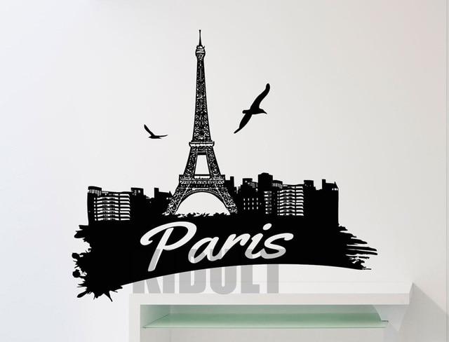 Creative Wall Decals Eiffel Tower Paris Flag Pattern Wallpaper - Wall decals eiffel tower