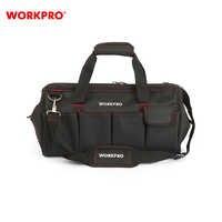 Bolsa de herramientas WORKPRO W081023AE multifunción plegable bolsa de hombro organizador bolsa de almacenamiento