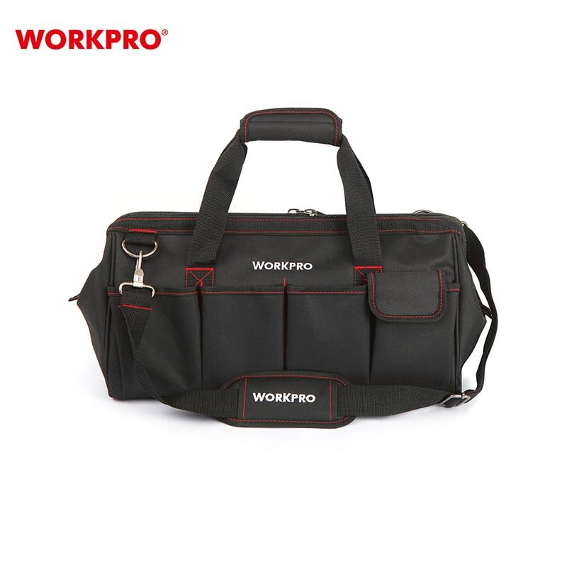 Borsa degli attrezzi WORKPRO W081023AE Multi-Funzione sacchetto di spalla pieghevole Dell'organizzatore di immagazzinaggio del sacchetto
