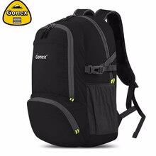 Gonex 30L черный рюкзак повседневное сумка для школьников девочек для женщин Путешествия Открытый пеший Туризм сумки легкий складной