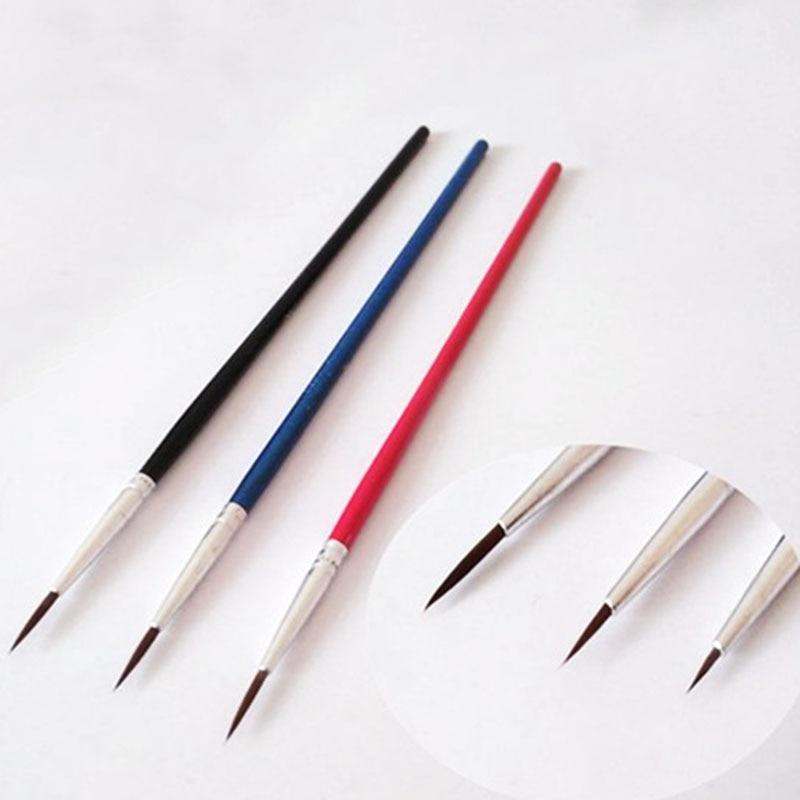 6Pcs/Set,Fine Hand-painted Thin Hook Line Pen Drawing Art Pen #0 #00 #000 Paint Brush Art Supplies Nylon Brush Painting Pen