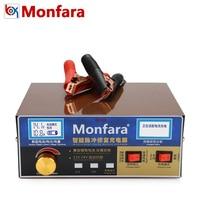 Monfara MF3S 12V 24V 6 400AH Car Battery Charger 12A 18A AGM GEL Lead Acid Li ion Lithium Motorcycle Auto Batterie Power Supply