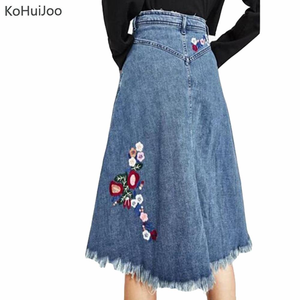 Women Knee Length Denim Skirts Promotion-Shop for Promotional ...