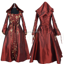 Tailored Red Vintage Costumes Renaissance Gothic Theater medieval regency  Halloween 488d3134b44e