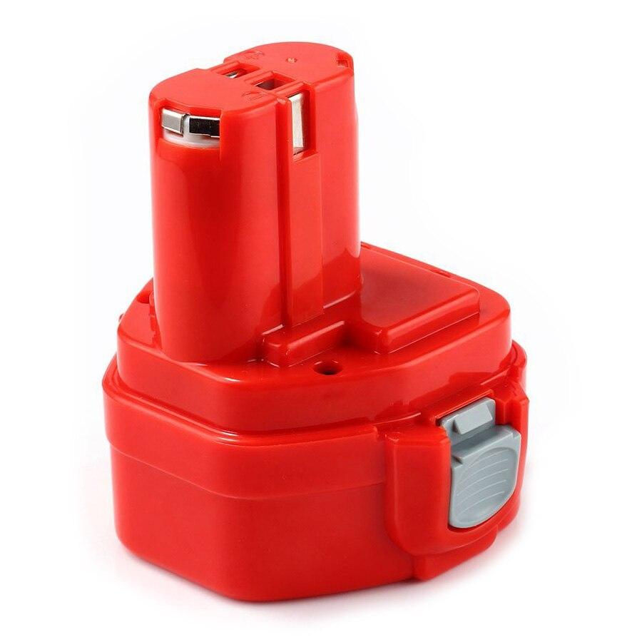 12 В 1500 мАч Мощность инструмента Батарея для <font><b>Makita</b></font> 1200 1220 1222 1233 1234 192598-2 192681- 5 красный