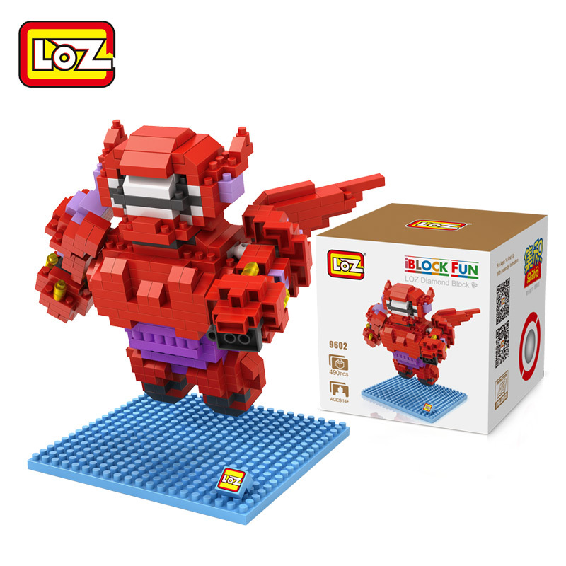 LOZ Big Hero 6 Hot mini Bricks Anime Baymax Building Blocks Intelligence Model Christmas Toy for Children DIY Toys Diamond Block hot sale removable armor deformable big hero 6 2015 new deformable robot baymax children s action toy figures holiday gift