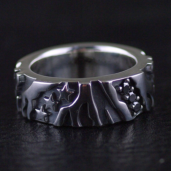 BOCAI silver Thai silver, men's ring restoring ancient ways index finger ring