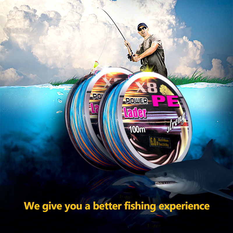 100M PE Braided Fishing Line Multicolor Lake Ocean Pesca Fly Carp Multifilament Fishing Line for Fishing Tackle Accessories