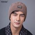 2016 YHKGG  Fall Winter Beanies Knitted Hats Rabbit Fur Cap  Snapback Cap  Fashion Skullies Elegant man Hats  The gentleman