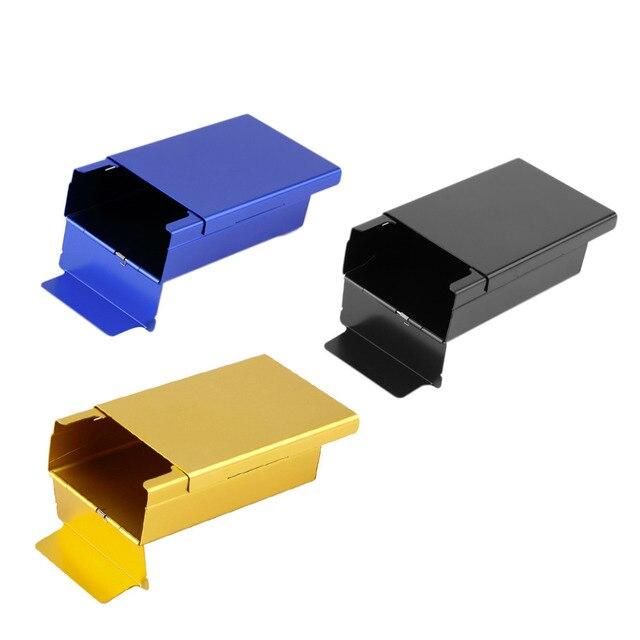 Push Open Алюминиевый Сигареты Сигары Табак Держатель Карманный Хранения Box Дело Brand New