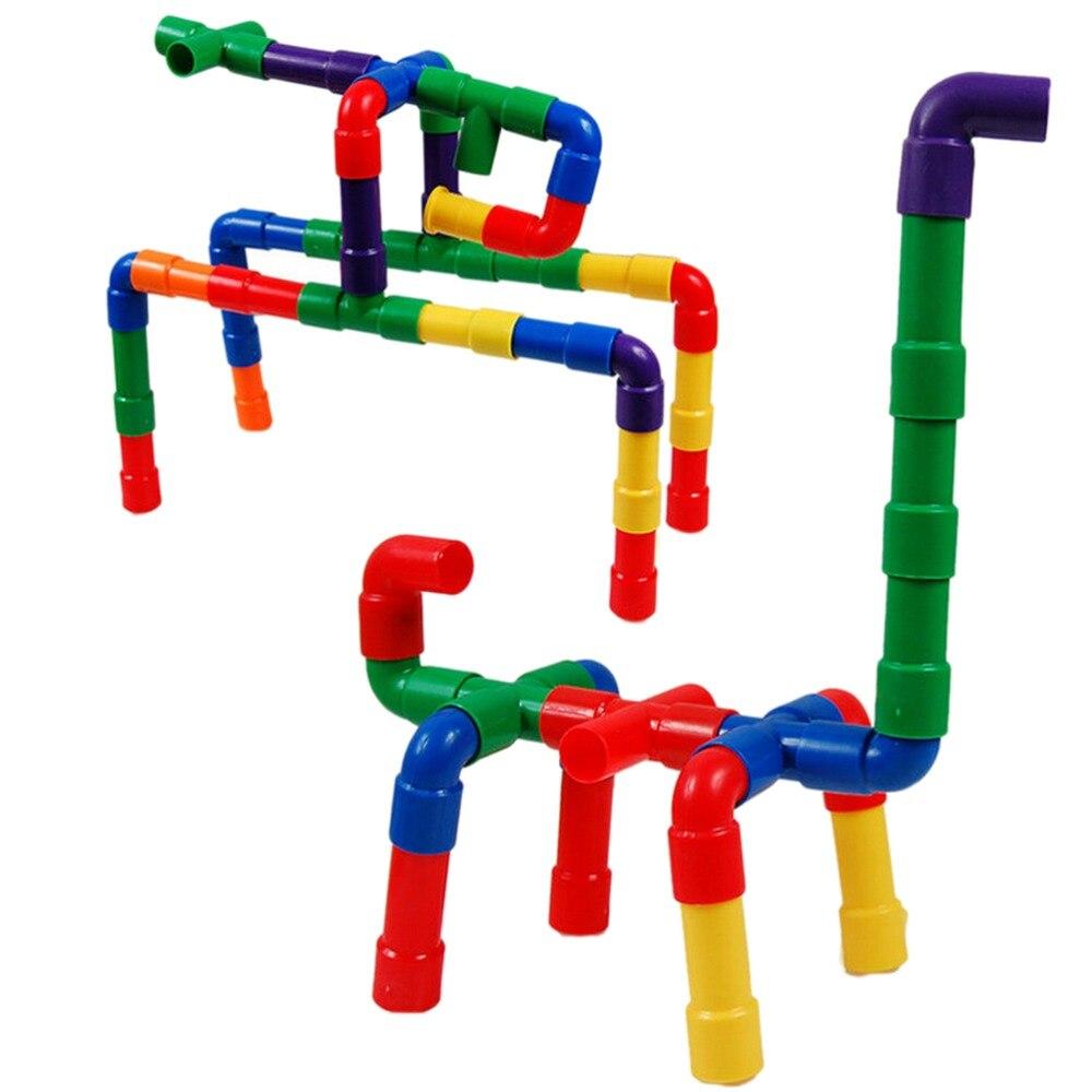 New Assembling Toy Water Pipe Plastic Building Blocks Belt Wheel ...