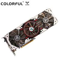 Original Colorful iGame1080 X 8GD5X Top AD V3 256bit GDDR5X Graphics Card GeForce GTX 1080 with HDMI / DVI / DP 1.4 Interface