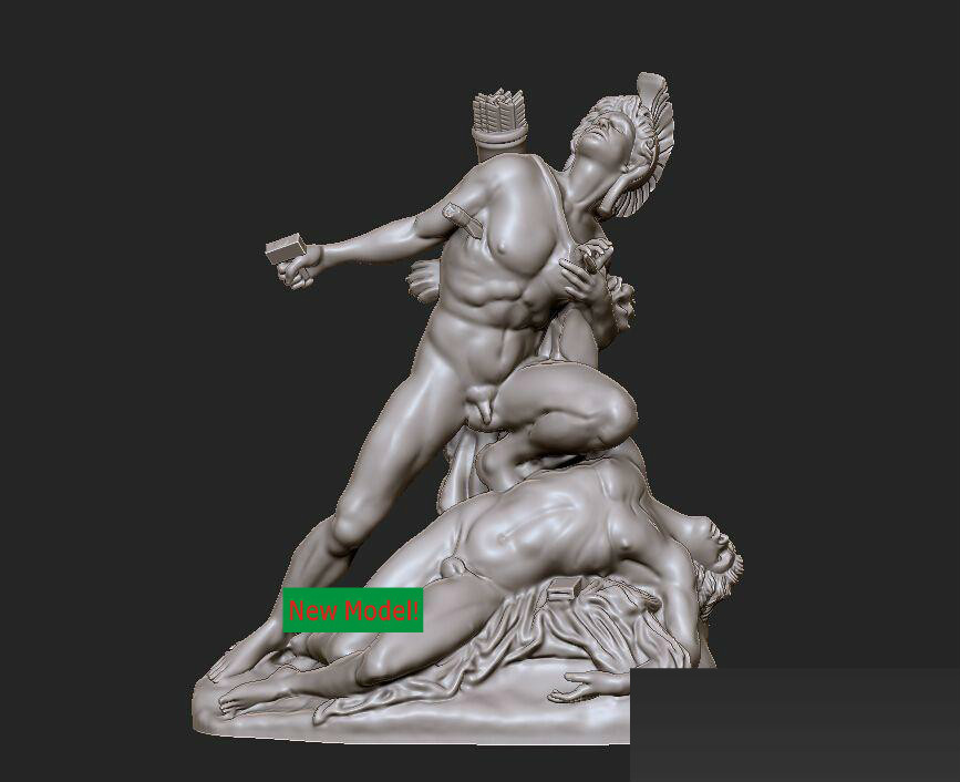 3D model stl format, 3D solid model rotation sculpture for cnc machine Euryalus & Nisus martyrs faith hope and love and their mother sophia 3d model relief figure stl format religion for cnc in stl file format