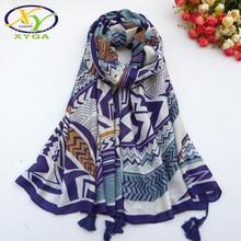 1PC Cotton Women Scarf Spring New Long Tassels Ladies Shawl Thin Summer Polyester Female Wraps Autumn Muslim Scarves