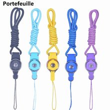 Portefeuille Detachable Long Lanyard Neck Strap For Key id badge holder Xiaomi mi 5 mi5 iPhone 7 6 keycord Mobile Phone Lanyards(China)