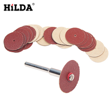 HILDA 30pcs Disc Sand Paper Sanding Sheet 20x0.3mm dremel acsessories suit for dremel rotary tools(China)