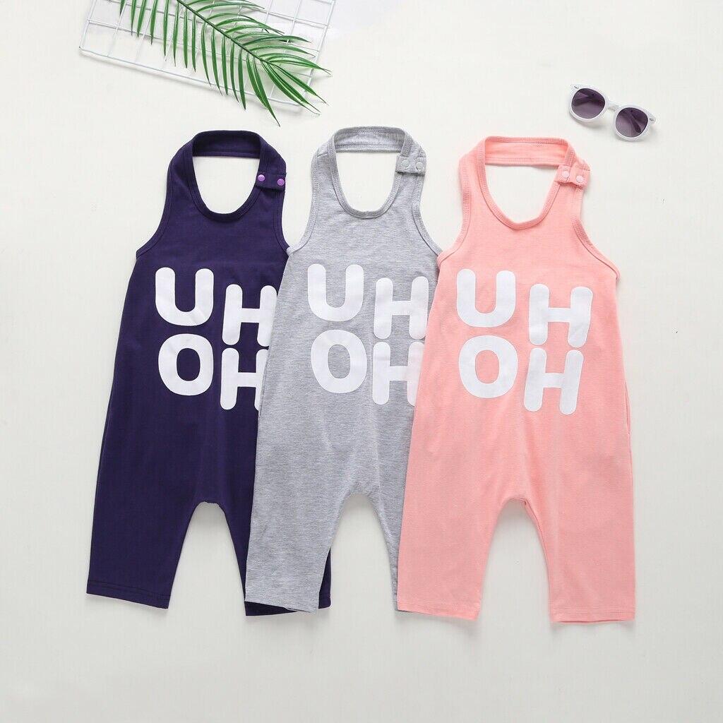 1-8y Zomer Peuter Kids Baby Meisje Mouwloze Backless Brief Print Strap Overalls Een Stukken Jumpsuit Casual Kleding