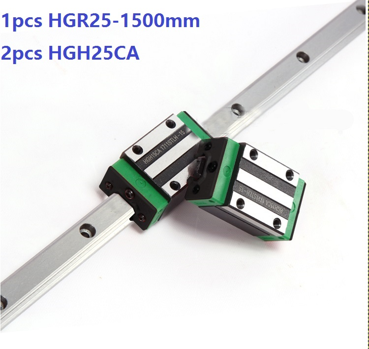 1pcs linear guide rail HGR25 1500mm + 2pcs HGH25CA linear narrow blocks for CNC router parts Made in China 1pcs linear guide rail HGR25 1500mm + 2pcs HGH25CA linear narrow blocks for CNC router parts Made in China