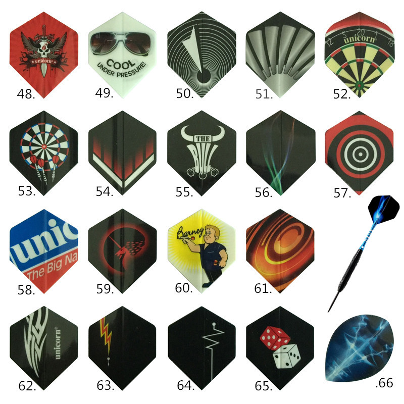 Cavalier Free Shipping 24/60 PCS Nice Professional Darts Wing Tail Outdoor 2D Standard Dart Flights Set Dart Accessories