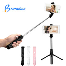 BE80 Mini Bluetooth pau de Selfie Stick + Trijkājis Monopod stick self bluetooth selfiestick iphone xiaomi mi Android 7 8 tālrunis