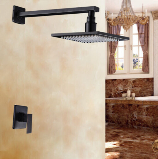 Wall Mount 10 Bathroom Rain Shower Faucet Set Mixer Valve Oil Rubbed Bronze oil rubbed bronze toilet paper holder wall mount tissue box