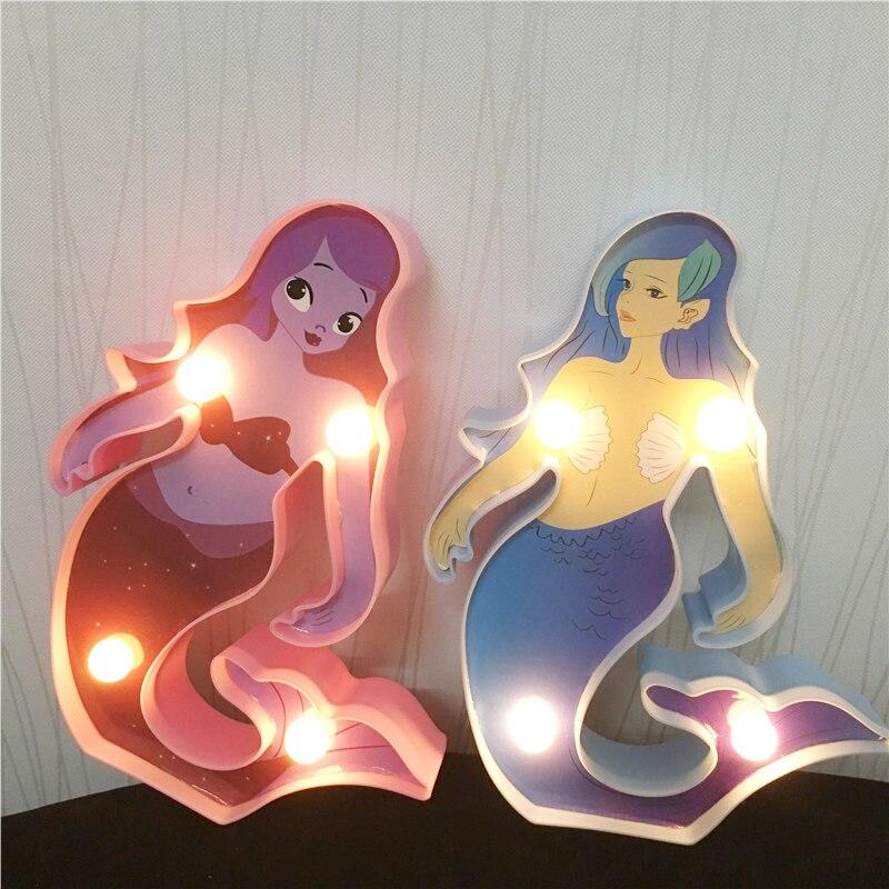 1PCS Classic 17cm High 3D Princess Mermaid Night Lamp Dolls Toy For Girl Birthday Gifts Surprise Lamp Lighting