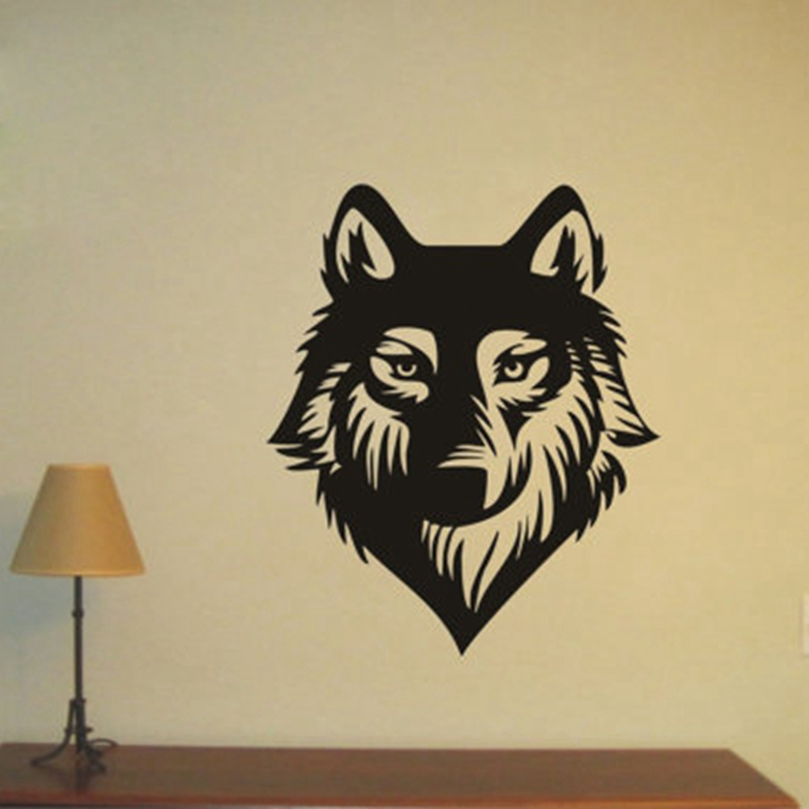 Free Shipping WOLF Wall Decoration Wild life Vinyl Decal, WOLF Wall ...
