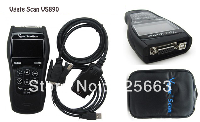 Vgate MAXISCAN VS890 CODE READER SCANNER VGATE VS890  Car Diagnostic tool Free Shipping By DHL