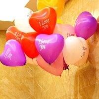 100 قطعة/الوحدة الحب القلب بالون الديكور زفاف بالونات عيد إمدادات حفلة عيد ميلاد بالون