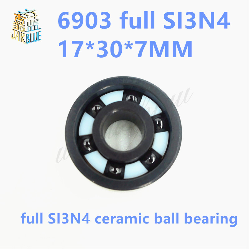 Free Shipping 6903 Full SI3N4 ceramic bearing  SI3N4 full ceramic material 61903 17*30*7MM free shipping 6903 full si3n4 ceramic deep groove ball bearing 17x30x7mm 61903