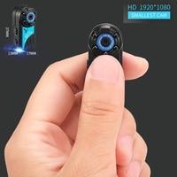 La cámara más pequeña de 1080 p completa hdmini DV Cam Cámaras de vídeo micro infrarrojo visión nocturna cámara de detección de movimiento dvr