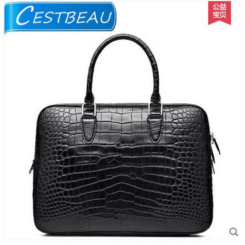 cestbeau crocodile men's bags Belly men handbag  whole skin without joining together the abdomen leather men briefcase free mail men without women