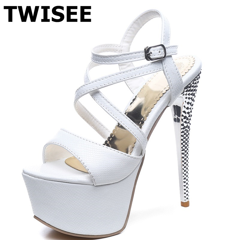 Buckle Strap extrem high heels 11 cm woman shoes pu leather Beautiful platform sandals peep toe ladies women shoes sandals turbo cartridge chra td04l 49377 04300 14412 aa360 aa140 turbocharger for subaru forester impreza wrx nb 1998 03 58t ej205 2 0l